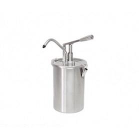Dispenser dosatore salse singolo in acciaio • capacità lt. 5