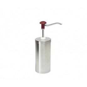 Dispenser dosatore salse singolo in acciaio • capacità lt. 2