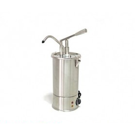 Dispenser dosatore salse singolo in acciaio • capacità lt. 3