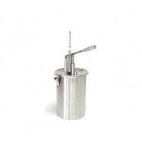 Dispenser con punta per riempimento dolci in acciaio • capacità lt. 5