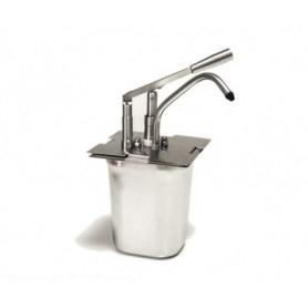 Dispenser per salse in acciaio GN 1/6 h.200 • capacità lt. 3