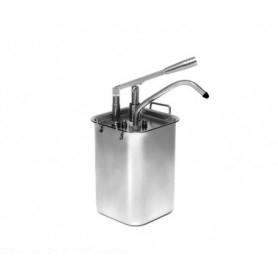 Dispenser per salse in acciaio • capacità lt. 4