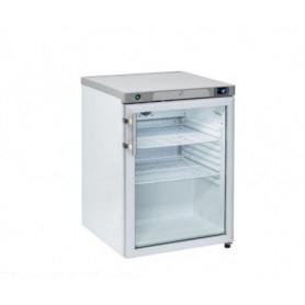Armadio Refrigerato 145 Lt. Acciaio inox. 0°/+8°C • Porta in Vetro