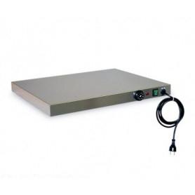 Piano Caldo inox con PIANO INOX AISI 304. Cm. 90x45 - Temp. 0°/95°C