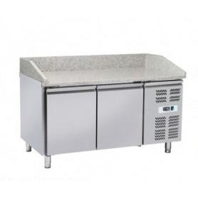 Banco Pizza refrigerato 2 sportelli e piano in granito. 151x80x99H.