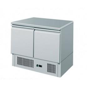 Saladette CONGELATORE -12°/-18°C. • 2 sportelli. Piano di lavoro inox. 94