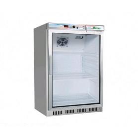 Armadio Refrigerato • Porta in Vetro •130 Lt. • Refrigerazione statica. +2°/+8°C • Esterno in Acciaio Inox