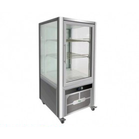 Espositore refrigerato 4 lati in vetro - 200 litri - temp. +2°+8°C