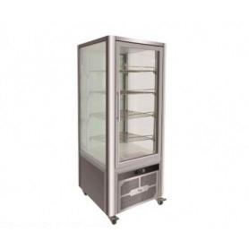 Espositore refrigerato 4 lati in vetro - 408 litri - temp. +2°+8°C