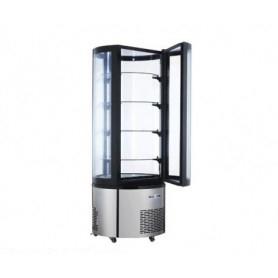 Espositore Vetrina refrigerata per pasticceria - Vetro curvo - Temp. +2/+8°C - Dim.cm. 68x68x175H