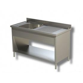 Lavatoio su fianchi ad 1 vasca + sgocciolatoio laterale. Prof. 70