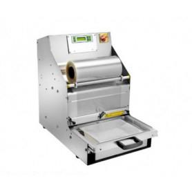 Termosigillatrice sottovuoto automatica per vaschette - Larghezza film 33-38 cm.