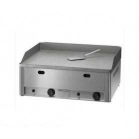 Fry Top da banco a GAS - Piano di cottura 65x48 • ½ liscio e ½ rigato