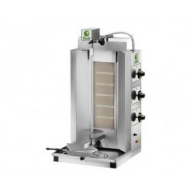 Gyros da banco a gas - Capacità 30 Kg. - 6 bruciatori