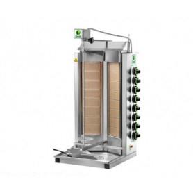 Gyros da banco a gas - Capacità 80 Kg. - 8+8 bruciatori