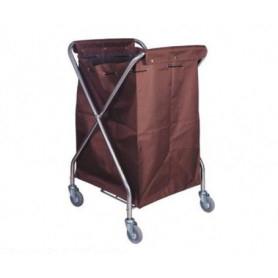 Carrello portabiancheria pieghevole su ruote - sacco non incluso