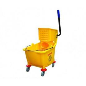 Carrello pulizia lavaggio pavimenti su ruote con 1 secchio e strizzatore