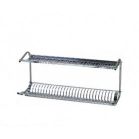 Pensile aperto scolapiatti • 1 ripiano piatti e 1 ripiano bicchieri - cm. 80x26x37H.