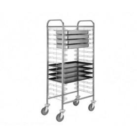 Carrello Porta vassoi 60x40 e GN 1/1 - Capacità 10 vassoi
