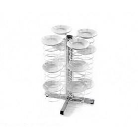 Carrello Porta piatti da banco - portata 48 piatti cm. ø 18/23