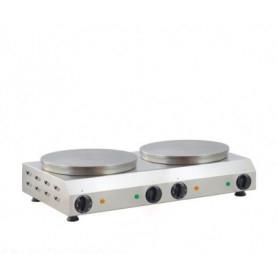 Crepiera elettrica doppia - 2400 + 2400 watt - ⌀ 40 cm.