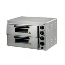 Forno Pizza elettrico 2 camere. Capacità 1+1 pizza Ø 30 cm. - Kw. 3