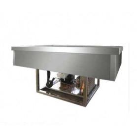 Drop In refrigerato da incasso con comandi - Vasca 4 GN 1/1