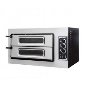 Forno Pizza elettrico 2 camere. Capacità 4 pizze Ø 32 cm. - Kw. 7.5 - Porta in Vetro