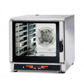 Forno Elettrico Professionale a Convenzione + Vapore - Comandi DIGITALI - 6 Teglie cm. GN 1/1 e 60x40