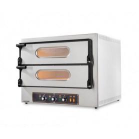 Forno Pizza elettrico 2 camere. Capacità 4 pizze Ø 30 cm. - Kw. 4.8 - Porta in Vetro