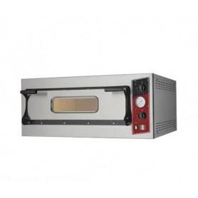 Forno Pizza elettrico 1 camera. Capacità 6 pizze Ø 32 cm. - Kw. 7 - Porta in Vetro