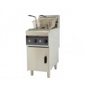 Friggitrice a 2 vasche da lt. 10 + 10 ELETTRICA. Dim.cm. 40x80x110H. - Assorbimento 6+6 Kw.