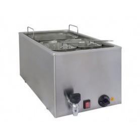 Cuocipasta da banco elettrico  con rubinetto di scarico - Kw. 3.2 - Capacità 25 lt