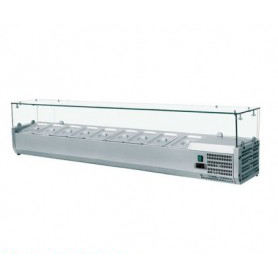 Vetrina refrigerata portacondimenti GN 1/4 - 150x33