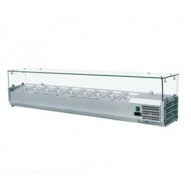 Vetrina refrigerata portacondimenti GN 1/4 - 200x33