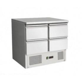 Saladette refrigerata 4 cassetti. Piano di lavoro inox. 90x70x85H.