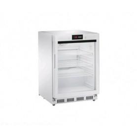 Armadio Refrigerato 140 Lt. Acciaio inox verniciato bianco. 0°/+8°C - Porta in Vetro