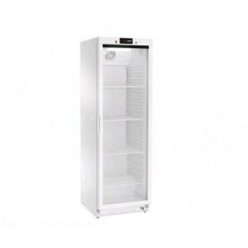 Armadio Refrigerato 360 Lt. Acciaio inox verniciato bianco. 0°/+8°C - Porta in Vetro