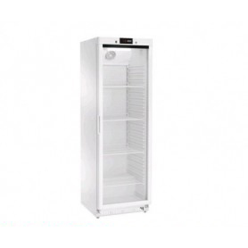Armadio Refrigerato CONGELATORE 360 Lt. Acciaio inox verniciato bianco. -18°/-20°C - Porta in Vetro