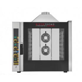 Forno a gas elettronico combinato convezione + vapore. 7 teglie GN 1/1 - Dim.cm. 93