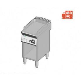 Fry Top a gas con piano LISCIO. Dim.cm. 35x70x85H. - Potenza termica 7 Kw.