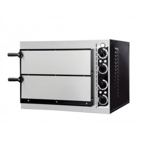 Forno Pizza elettrico 2 camere. Capacità 2 pizze Ø 32 cm. - Kw. 2.4
