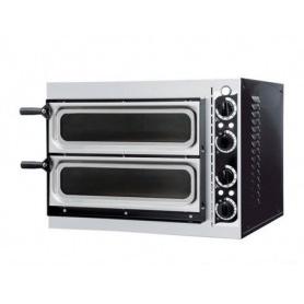 Forno Pizza elettrico 2 camere. Capacità 2 pizze Ø 32 cm. - Kw. 2.4 - Porta in Vetro