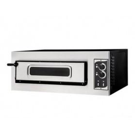 Forno Pizza elettrico 1 camera. Capacità 1 pizza Ø 32 cm. - Kw. 5 - Porta in vetro - Temp. 50°/500°C