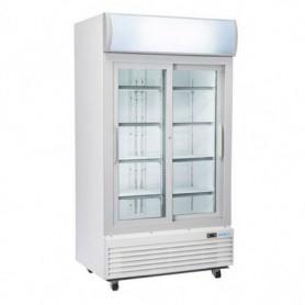 Frigo vetrina bibite verticale ante scorrevoli - 970 lt - 120x73x203