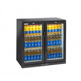 Espositore refrigerato per Bibite. Lt. 201 - Dim.cm. 90x52x90H. - Ante a battente
