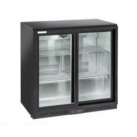 Espositore refrigerato per Bibite. Lt. 201 - Dim.cm. 90x52x90H. - Ante scorrevoli