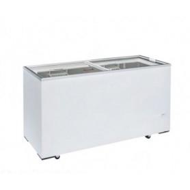 Congelatore a pozzetto. Capacità 440 lt. Temp. -13°/-23°C. - Porta in vetro