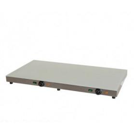 Piano Caldo inox con VETRO TEMPERATO. Cm. 100x50 - Temp. 0°/+110°C