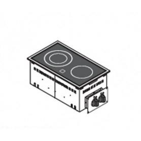 Piano di cottura da incasso. 2 Piastre elettriche in VETROCERAMICA - 4